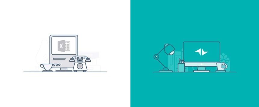 Comparativa entre Excel y CRM - Teamleader CRM