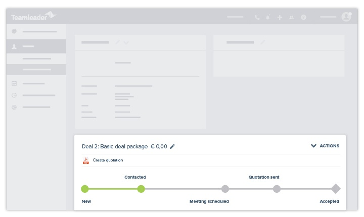 Teamleader - CRM - ciclo de ventas