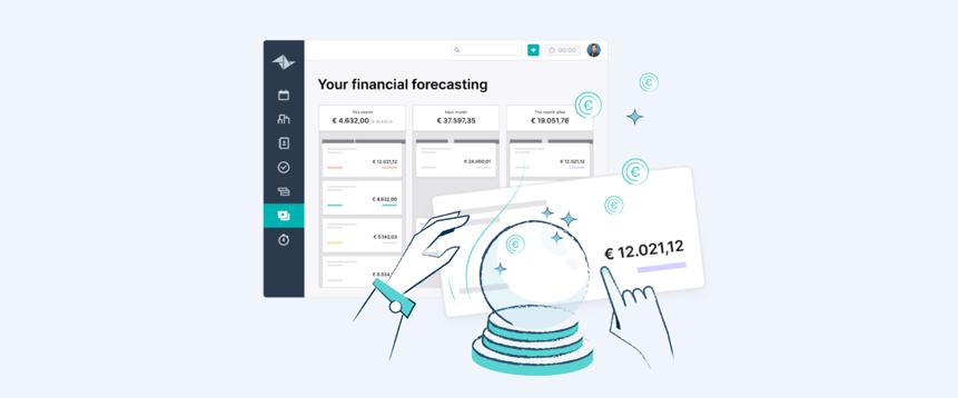 Predice tus ingresos futuros con la previsión financiera de Teamleader