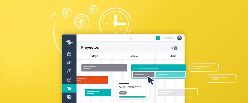 Cuida tu vista general con la línea temporal para proyectos simultáneos de Teamleader