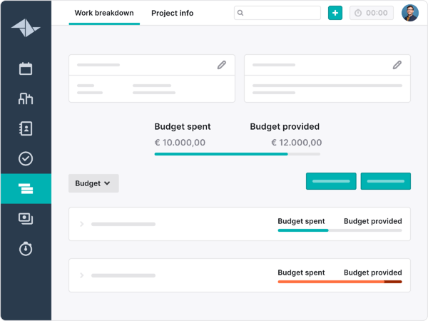 Work breakdown - Front and centre - budget data@2x